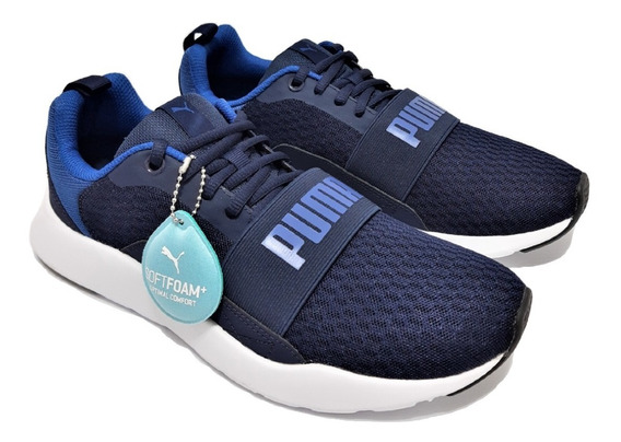 Tenis Puma Wired Azul Marinho Caminhada Corrida Macio