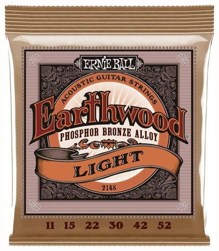 Ernie Ball Eb2148 011 Encordado Guitarra Acustica P Bronze
