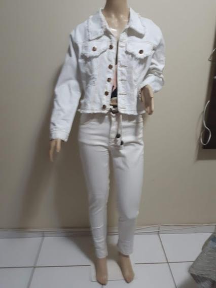 Bpr004 - Jaqueta Jeans Branco - G-44