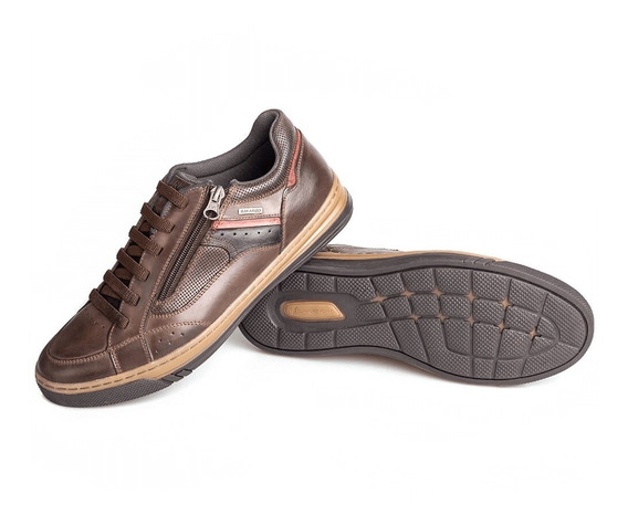 Sapato Masculino Sapatênis Em Couro Tênis Rafarillo Conforto
