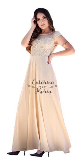 Vestido Madrinha Manguinha Lilás Marsala Rosa Chá Dourado 4