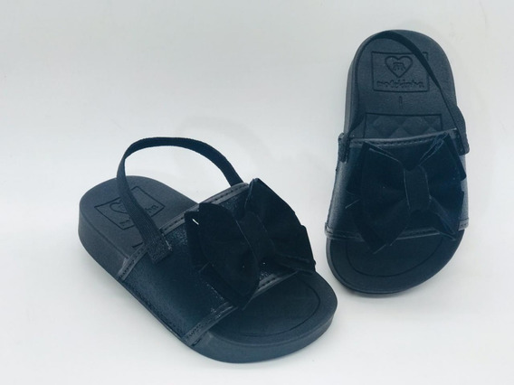 Chinelo Infantil Feminino Molekinha Baby Laço Gliter 2125102