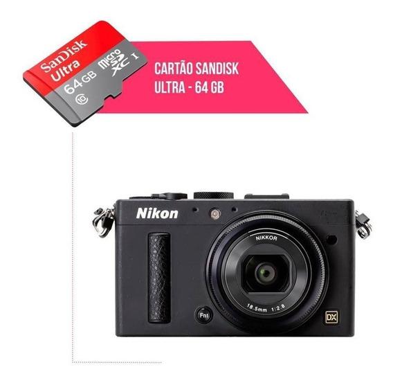 Cartão De Memória 64gb Ultra Para Câmera Nikon Coolpix A
