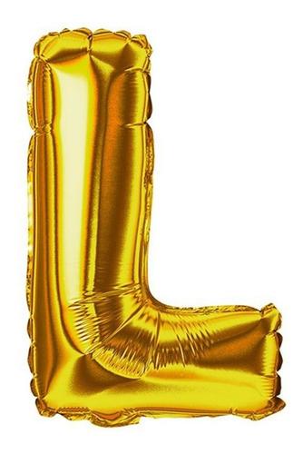 Imagem 1 de 1 de Balão Metalizado Letra 40cm - L