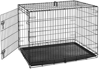 Jaula Plegable Para Perros Grande 106 Cm X 71 Cm X 76 Cm