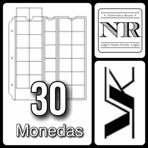 10 Hojas Para Monedas Formato Clasico - Vk - 30 Espacios