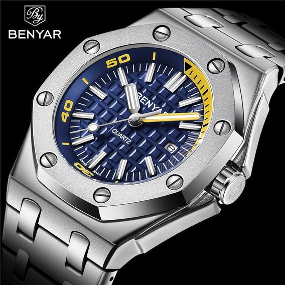 Relogio Benyar Cronografo - Modelo By-5123 M