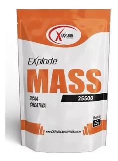 Mass 25500 Hipercalórico 1,5kg Com Creatina E Bcaa