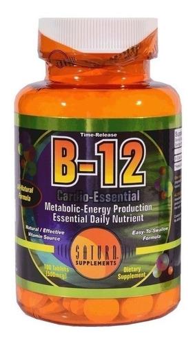 Vitamina B12 Saturn No Engorda  Para Deportista Y Veganos