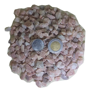 20 Kg. Piedra Rosa #2 1/2 Construcción Y Decoración