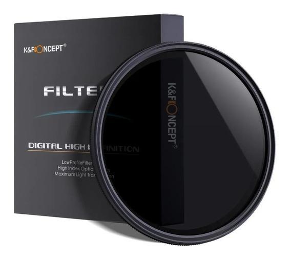 Filtro Nd2 A Nd400 Variável - K&f - 49mm - Envio Do Brasil