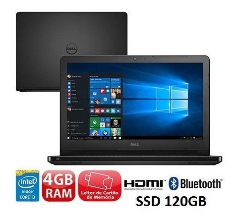 Notebook Dell I3 5005u + 8gb Ddr3 E Ssd 120gb