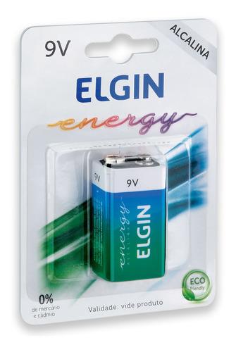 Imagem 1 de 4 de 01 Pilha Bateria 9v Alcalina Elgin 1 Cartela