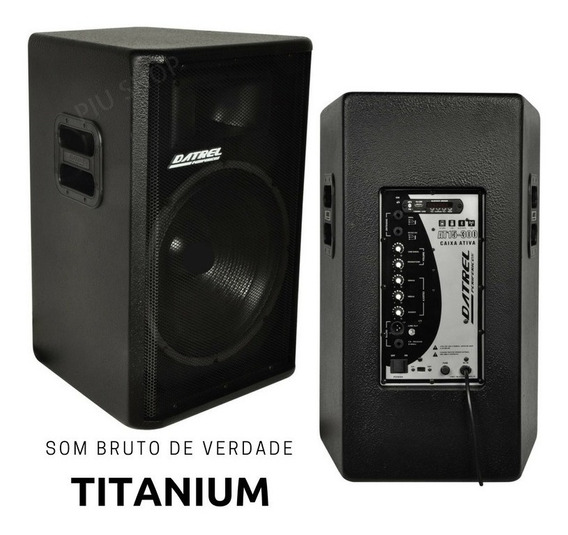 Kit Caixa De Som Ativa Usb + Passiva 600w Rms Titani Datrel