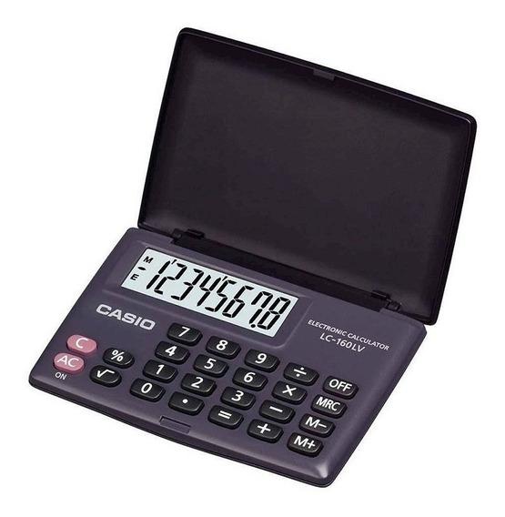 Calculadora De Bolso Casio Lc160 Lv 8 Dígitos Visor Grande