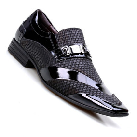 Sapato Social Masculino Couro Fivela Calvest Preto 3030c413