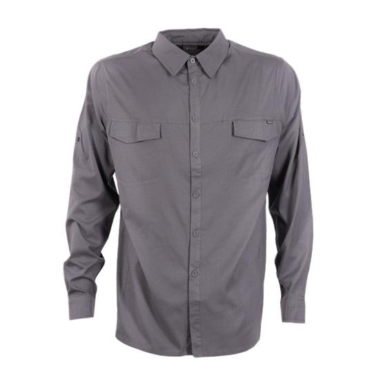 Camisa Hombre Rosselot Q-dry Shirt L/s Gris Oscuro Lippi