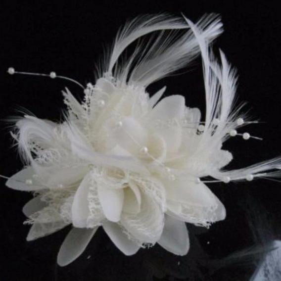 Enfeite Arranjo Cabelo Noiva Flor Vermelho Branco Amarelo