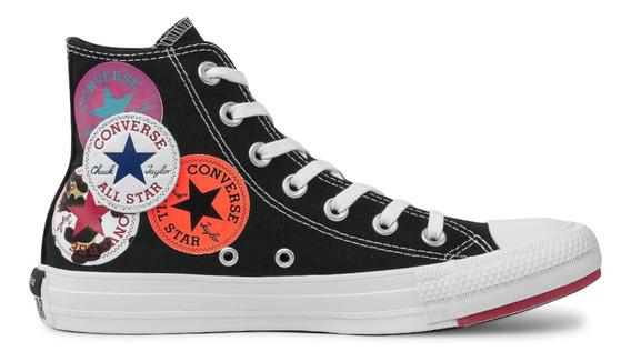 Tênis Converse Chuck Taylor All Star Twisted Hi Preto/branco