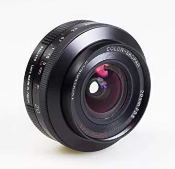 Lente Voigtlander Color Skopar 20mm F3.5 Sl Para Canon Ef