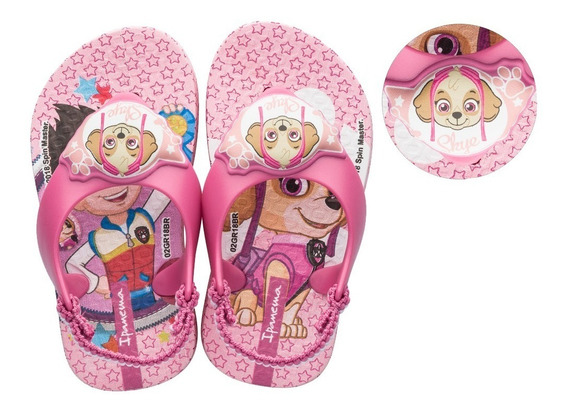 Chinelo Ipanema Patrulha Canina Baby Grendene Lançam. 26124