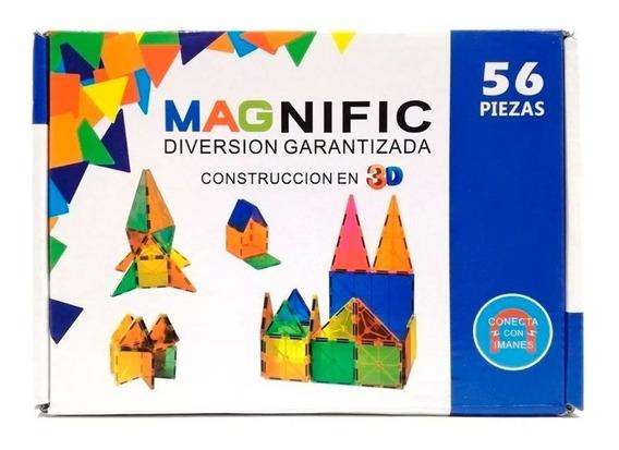 Magnific Bloques Magneticos 56pzs Kbm-56aru