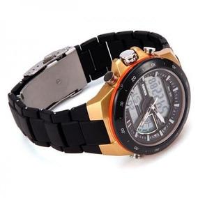 Relógio Masculino Skmei Digital E Analógico Preto/dourado