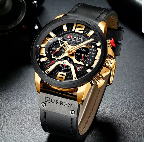 Relógio Esportivo Luxo Curren Original Funcional +frete