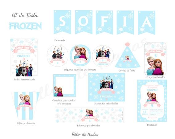 Kit De Fiesta Frozen (digital) Listo Para Imprimir