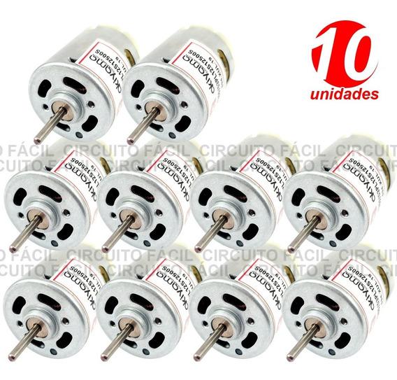 10 Unidades Micro Motor 12v 12500rpm