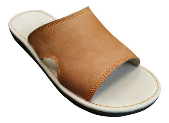 Sandalias De Piel, Suaves Para Descanso, Confortables, E5cc