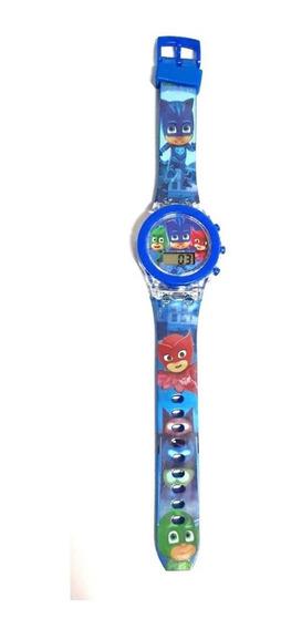 Relógio Infantil Digital Menino Gato E Os Pjmasks