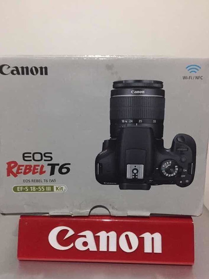 Canon Rebel T6 Kit 18-55m Canon Com /wi-fi Já+bateria Extra