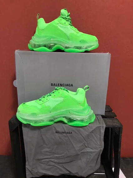 Sneakers Balenciaga Triple S Green Neon 1.1 Ua Con Caja