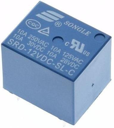 5 Unidades - Relê 12v 10a - 5 Terminais - Srd-12vdc-sl-c