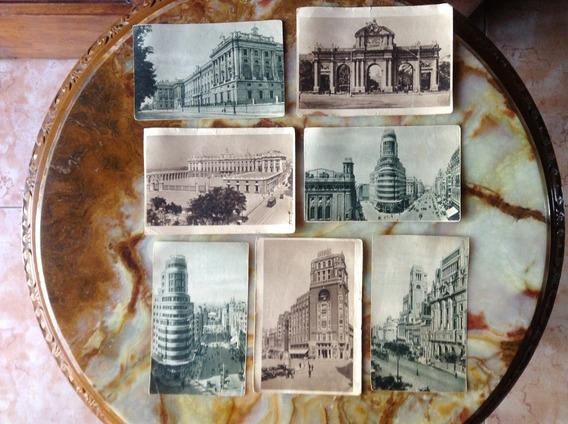 Lote 7 Postales Europeas Imagenes De España, Madrid-antiguas