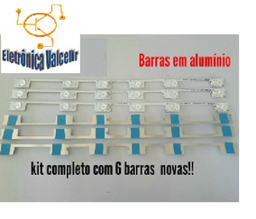 Kit 6 Barras Led Toshiba 48 Dl4844 48l2400 Dl4845 Aluminio