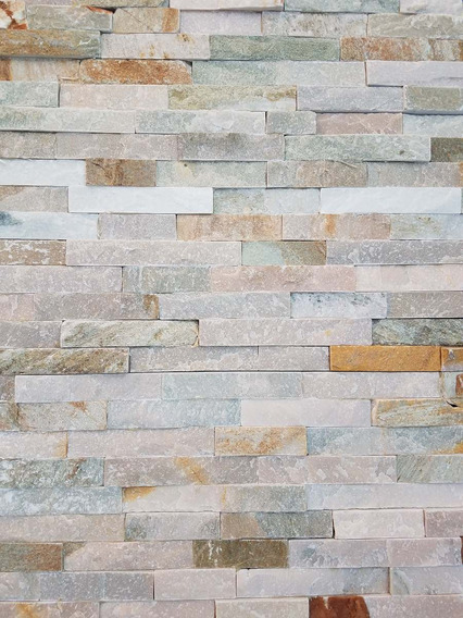 Piedra Natural Placa Panel 60x15 Cm Laja Mix Por Unidad