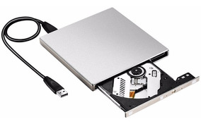 Gravador Cd E Dvd Externo Usb 2.0 Prata Novo Com Nfe