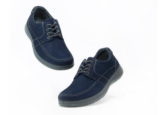 Zapatos Comodos Caballero Flexi 50602 Azul 100% Originales!!