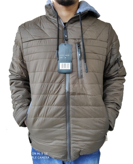Casaco Masculino Acolchoado Nylon Super Quente Jaqueta Frio