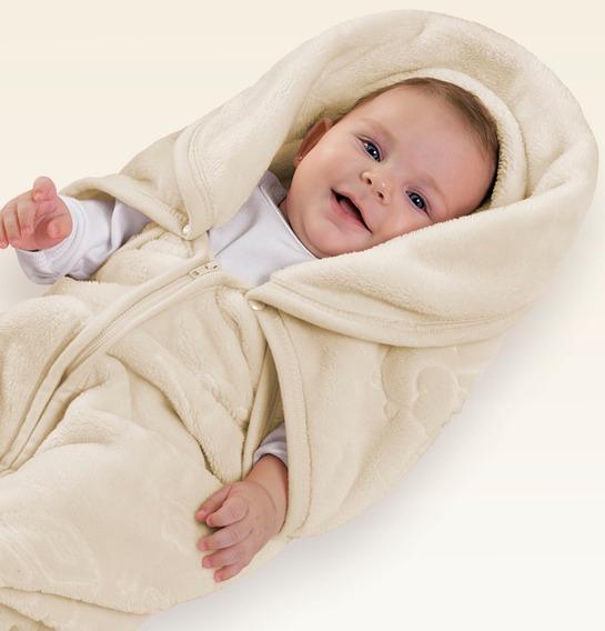 Cobertor Bebê Vira Saco De Dormir Baby Sac Jolitex Microfibr