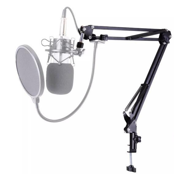 Suporte Microfone Ksr Estudio Prof Radio 35a Articulavel