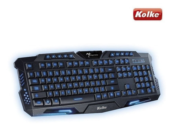 Teclado Gamer Luminoso Com Led Dragon Series Ktg-502p Kolke