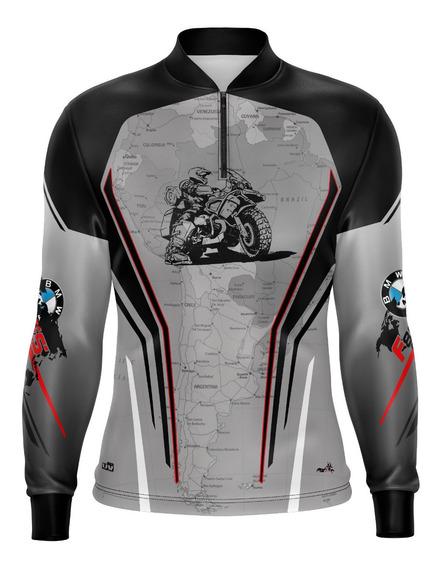 Camiseta Brk Motociclismo Big Trail F800 Gs Map Com Fpu 50+
