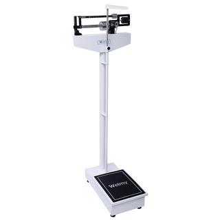 Balança Mecânica Antropométrica 150kg Branca E Preta Welmy