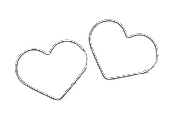 Brinco Argola Pequena Coração Prata Pura Garantia Feminina
