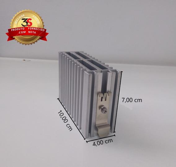 Dissipador P/ Rele De Estado Solido 10x7x4cm P/ Trilho Din