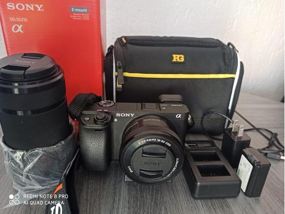 Câmera Sony Ilce-6300 4k Kit Sel 16-50 + E 55-210mm F/4.5