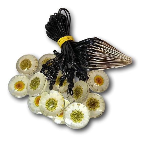 Colar Flor Margarida Branca Ref: 9498 (dúzia) Atacado